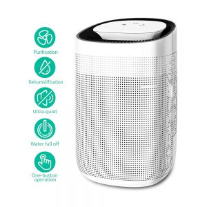 Honati Home Dehumidifier, 1000 ML Ultra Quiet Small Portable Dehumidifiers for Basements